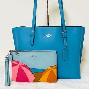 New💃Coach Laptop Bag Tote Purse and Wristlet Set